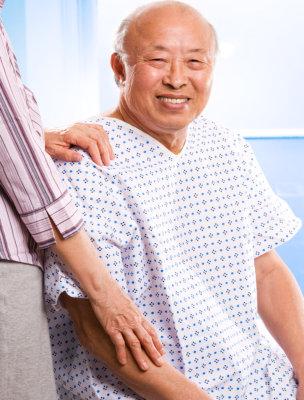 asian elderly smiling